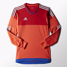 NEW Adidas Men's XXL 2X TOP 15 GOALKEEPING JERSEY Bright Red Scarlet Blue S29441