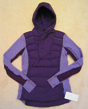 Lululemon Fluff Off FO Pullover Deep Zinfandel Purple Mini Check Pique Sz 6
