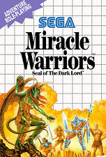 Miracle Warriors SEGA Master System Framed Print (Man Cave Picture Gaming Art)