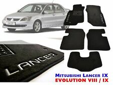 Mitsubishi LANCER 9 2003-08 EVO VIII IX Carpeted Fully Tailored Carmats DELUXE