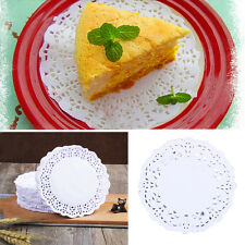 "180PCS 3.5"" White Round Hollow Doilies Lace Paper Pad Cakes Biscuits Coasters"