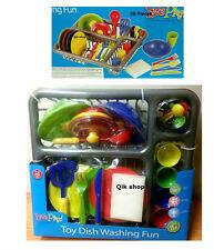 Plat lavage jeu amusant jouet 28 Pièces Set Plaque coutellerie fun set