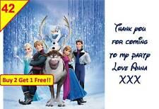 42 Disney Frozen Navidad Etiquetas Adhesivas De regalo Bag Detalles Gracias