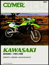 CLYMER SERVICE REPAIR MANUAL M351 KAWASAKI KDX200 1983 1984 1985 1986 1987 1988