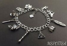 Harry Potter Charm Bracelet Deathly Hallows Werewolf Wizards Owls Wands Books