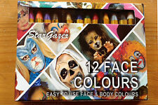 FACE PAINT CRAYON 12 piccoli BASTONI Halloween animale Costume Stargazer