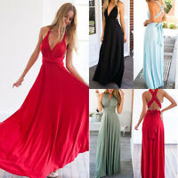 Women's Convertible Infinity Long Maxi Dress Bridesmaid Evening Party Prom Gown