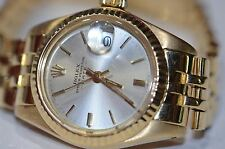 Womens Rolex Datejust Oyster Perpetual 18K Solid Gold