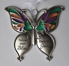 d FOLLOW YOUR BLISS find happiness BUTTERFLY WISHES Ornament ganz car charm