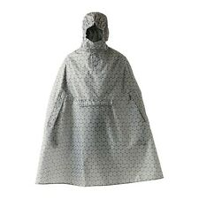 IKEA KNALLA Rain Poncho Grey White Wet Polyster WaterProof Hooded Hiking Adults
