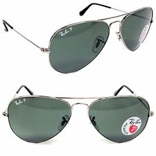 Ray-Ban RB 3025 004/58 Aviator  Gunmetal / Green Polarized Lens 62mm