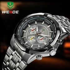 WEIDE 2014 Original Male Watch De Marca Weide Waterproof Stainless Steel + TRACK