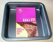 Non-Stick Square Tin 22.5 X 22.5 X 4.5cm Cake Pan Bakeware Baking Tin Bake