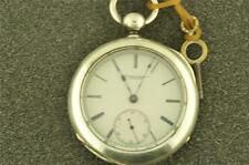 VINTAGE 18 SIZE ROCKFORDKEY WIND/KEY SET POCKET WATCH 3 OZ COIN SILVER CASE
