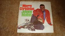 """Merry Christmas - Johnny Mathis with Percy Faith & Orch -Vintage 12"""" LP VG+"""