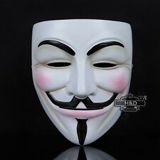 Resin V for Vendetta Anonymous Guy Fawkes Mask Halloween Costume Fancy Dress