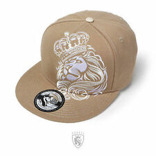 Og Abel Lion Crown Khaki Urban Tattoo Punk Ink Fierce Snapback Hat Cap Htsb005