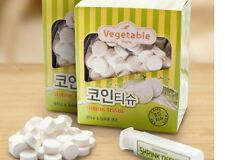 Disposable Compressed Vegetable Coin Tissue 300ct