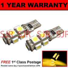 W5W T10 501 CANBUS ERROR FREE AMBER 9 LED COURTESY LIGHT BULBS X2 HID IL101701