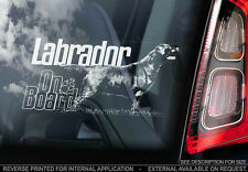 Labrador - Car Window Sticker - Dog Sign -V08