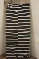 Vintage European mattress daybed cover Black striped patched hand woven cotton