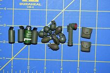 1:6 Military US Green Smoke Grenades Flashlight Pouches Toy (Lot of 15) C-174