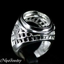 Ring Setting Sterling Silver 14x15mm.Oval Cab #8