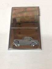Armstrong Siddeley234ref4Pewter Effect Car Emblem Stainless buisness card holder