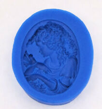 Cameo Girl with Bird Silicone Mold for Fondant, Gum Paste, Chocolate, Crafts NEW