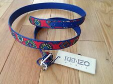 BNWT 100% auth KENZO  Mens Leather BELT with logo. 115. RRP £180