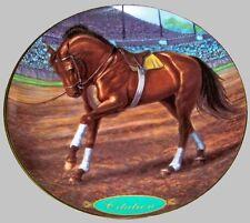 CITATION - DANBURY MINT 8 INCH PORCELAIN HORSE RACING PLATE BY SUSIE MORTON!