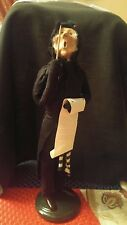 1992 Byers Choice Caroler Conductor with Baton Sheet Music