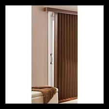 Patio Door New Privacy Vertical Blinds Large Window Durable PVC Printed Chestnut