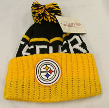 Mitchell and Ness Cuffed Knit NFL Pittsburgh Steelers Winter Hat New with Tags