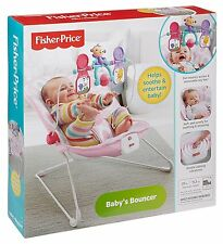 Fisher Price Pink Elipse Jungle Meadow Vibrating Bouncer Bouncy Seat Chair NEW