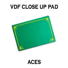 VDF GREEN Printed with Aces Magicians Matt Pad Mat card close up Magic trick