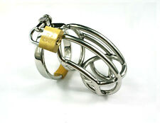 Male Stainless Steel Chastity Device Cage Locking A136