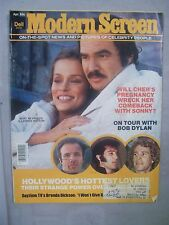 MODERN SCREEN MAGAZINE APRIL 1976 CHER PREGNANT HOTTEST LOVES BOB DYLAN