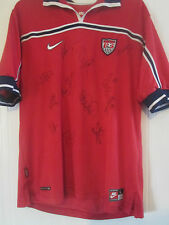 USA World Cup 1998 Squad Signed Away Soccer Football Shirt COA / 40653
