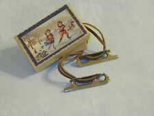 Ice skates for antique German lady doll, French fashion, China doll or Bleuette