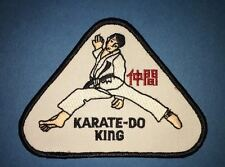 Vintage 1980's Karate Do King MMA Martial Arts Gi Uniform Jacket Patches 614