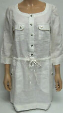 Ladies BC Clothing White 100% Linen Tunic Top / Dress Size 10 BNWT