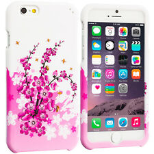 For Apple iPhone 6S (4.7) Hard Design Protective Case Cover Pink White Zebra