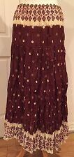 www.Station Long Gipsy Skirt Flare Maxi Brown Multi Size S-M Nice