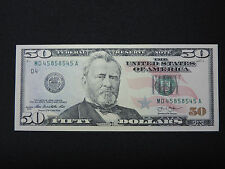 2013 $50 US DOLLAR BANK NOTE MD 45858545 A REPEATER BOOKEND NOTE USD UNC CU