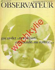Le nouvel observateur n°207 du 28/10/1968 Cohn-Bendit Tariq Ali Guy Mollet