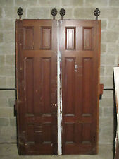 ~ SET OF ANTIQUE POCKET DOORS 58 x 96 ~ARCHITECTURAL SALVAGE