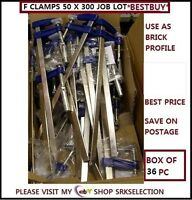 METAL F CLAMPS  50 X 300 MM 48pc JOB LOT  IDEAL FOR BUILDING WORK *CHEAPEST*