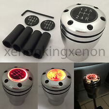 JDM Manual Transmission RED LED Light Silver Sport Gear Stick #t12 Shift Knob