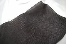 WIDE WEAVE BLACK SPEAKER FABRIC / CLOTH / GRILLS / - 1m x 850mm - STRONG